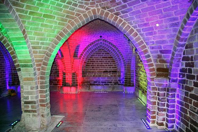 Piwnica Romańska wnętrze Muzeum Archeologiczne w Gdańsku