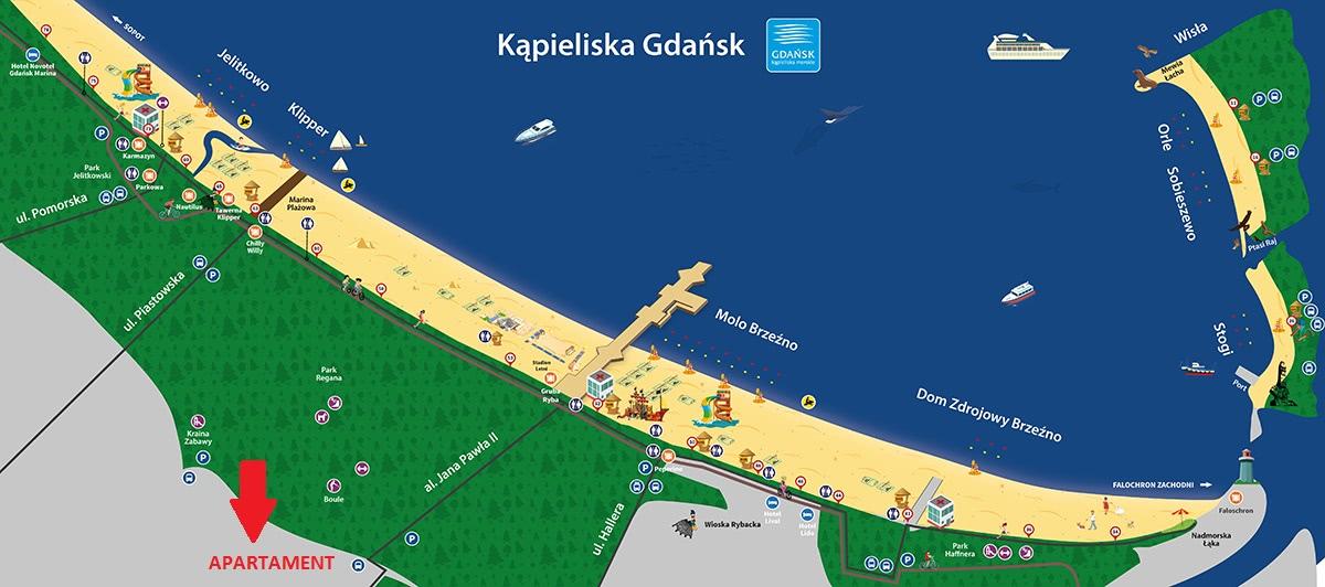 Kąpieliska i plaże w Gdańsku