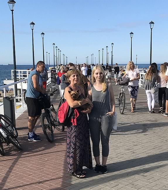 Molo Gdańsk Brzeźno spacer rodzinny Bożena Meca